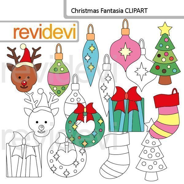 Christmas Fantasia clip art  Revidevi    Mygrafico