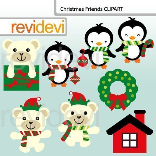 Christmas Friends Clipart - Animals Cliparts Revidevi    Mygrafico