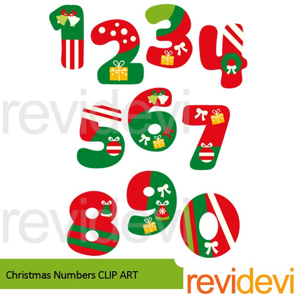 Christmas Numbers Clipart  Revidevi    Mygrafico