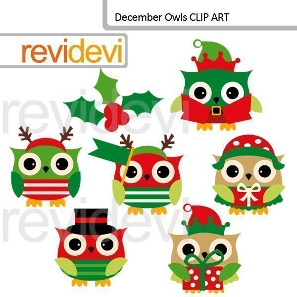 December owls clipart  Revidevi    Mygrafico