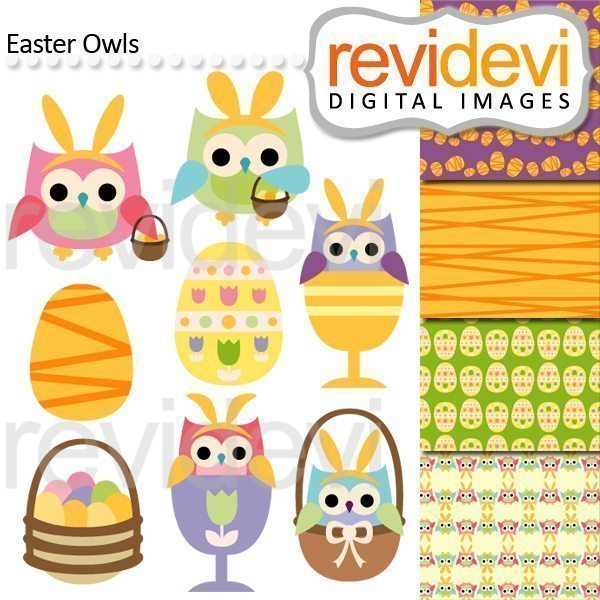 Easter Owls Cliparts  Revidevi    Mygrafico