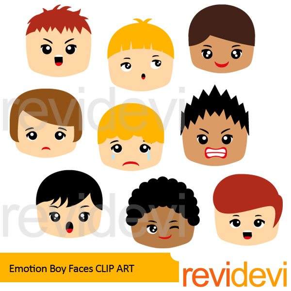 Emotion Boy Faces clipart  Revidevi    Mygrafico