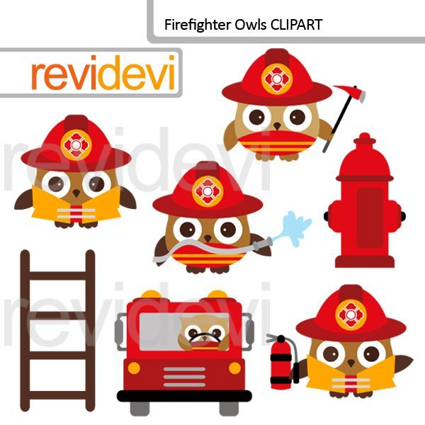 Firefighter Owls Clipart  Revidevi    Mygrafico