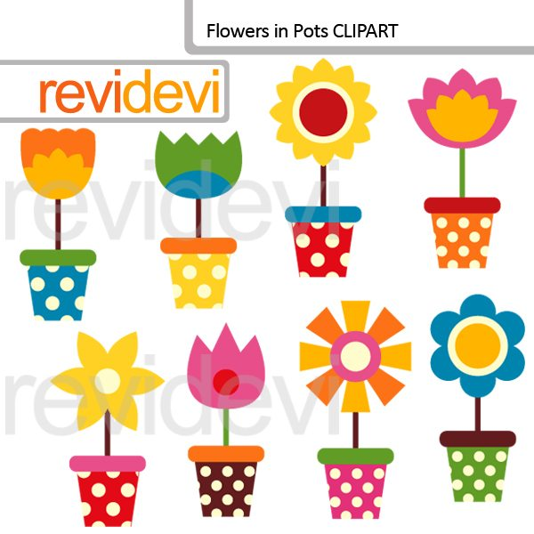 Flowers In Pots Clip art  Revidevi    Mygrafico