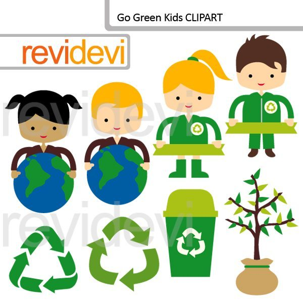 Go Green Kids Clipart  Revidevi    Mygrafico
