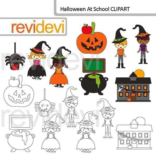 Halloween at school clip art  Revidevi    Mygrafico