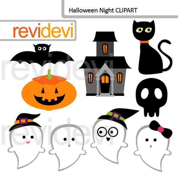 Halloween night clip art  Revidevi    Mygrafico