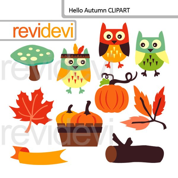Hello Autumn clip art  Revidevi    Mygrafico