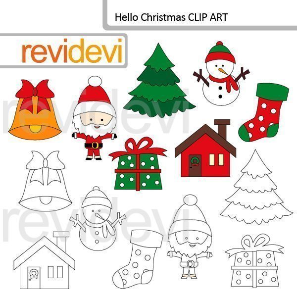 Hello christmas clip art  Revidevi    Mygrafico