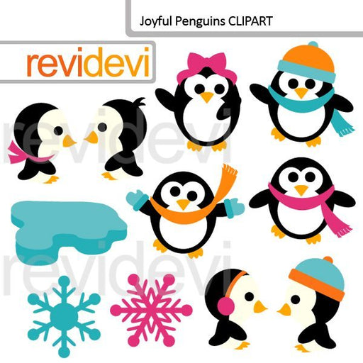 Joyful Penguins Clipart  Revidevi    Mygrafico