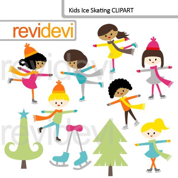 Kids Ice Skating Clipart  Revidevi    Mygrafico