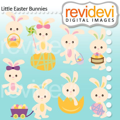 Little Easter Bunnies Clipart  Revidevi    Mygrafico