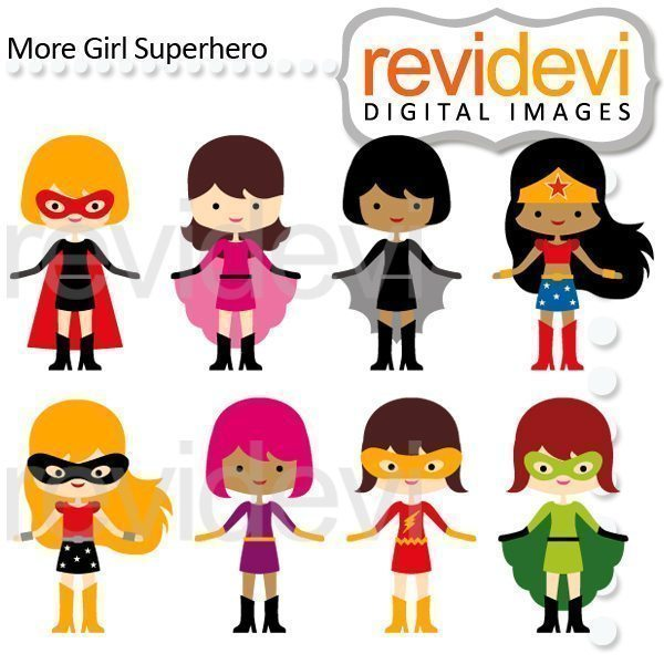More Girl Superhero Clipart  Revidevi    Mygrafico