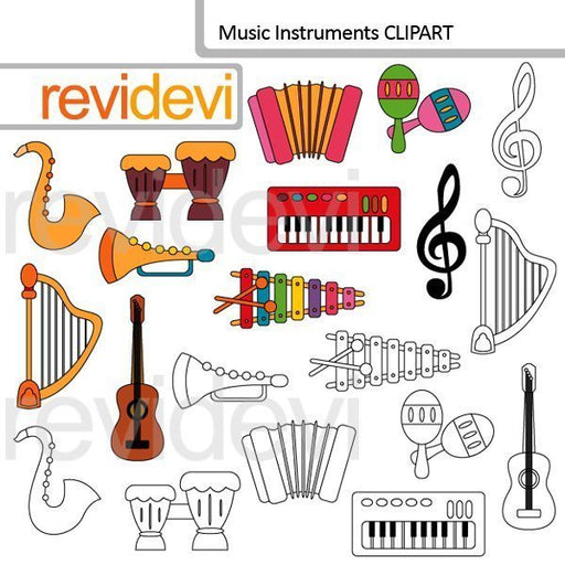 Music Instruments clipart  Revidevi    Mygrafico