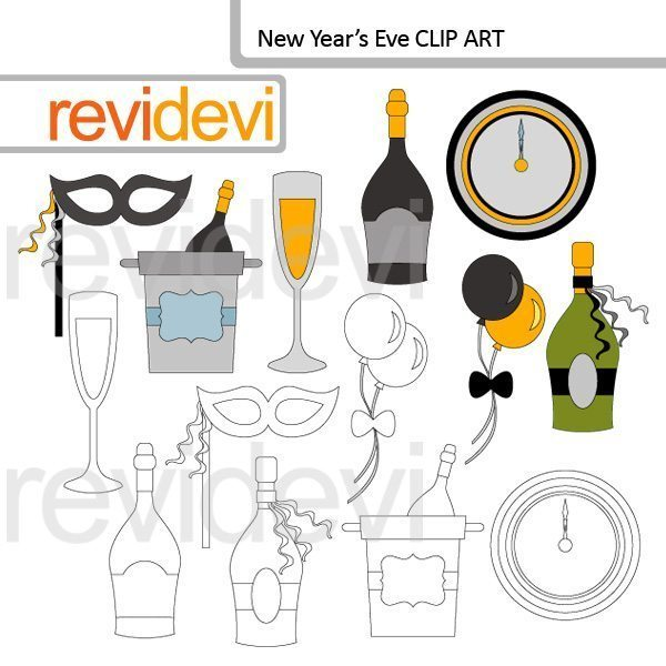 New Year's Eve clip art  Revidevi    Mygrafico