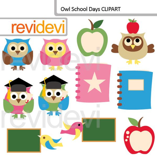 Owl school days clipart  Revidevi    Mygrafico