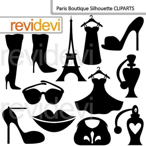 Paris Boutique Silhouette Cliparts  Revidevi    Mygrafico