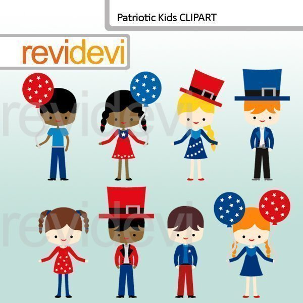 Patriotic Kids Clipart  Revidevi    Mygrafico
