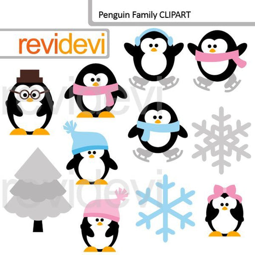 Penguin Family Clipart  Revidevi    Mygrafico
