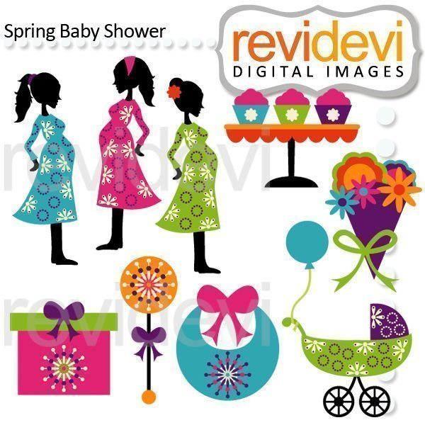 Spring Baby Shower Clipart  Revidevi    Mygrafico