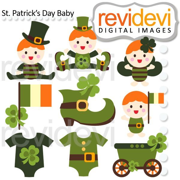 St Patricks Day Baby Clipart  Revidevi    Mygrafico
