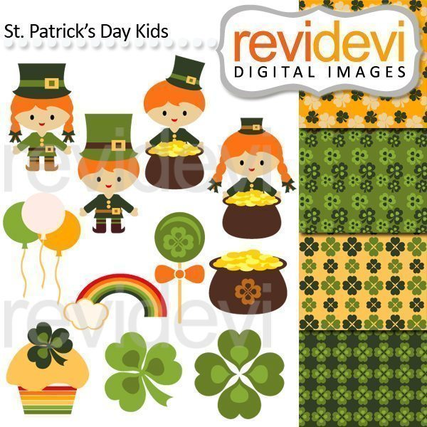 St Patrick's Day Kids Cliparts  Revidevi    Mygrafico