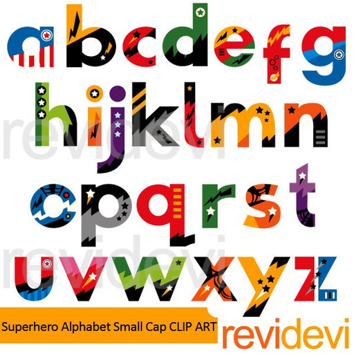 Superhero Alphabet Small Cap Clipart  Revidevi    Mygrafico