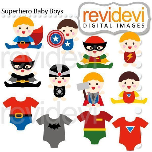 Superhero Baby Boys Cliparts  Revidevi    Mygrafico