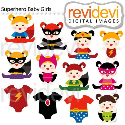 Superhero Baby Girls Cliparts  Revidevi    Mygrafico