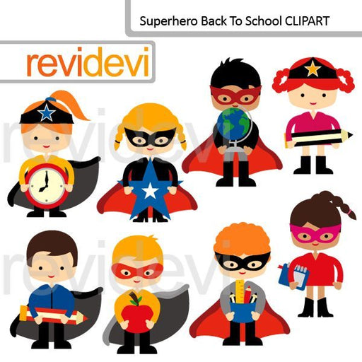 Superhero Back To School clipart  Revidevi    Mygrafico
