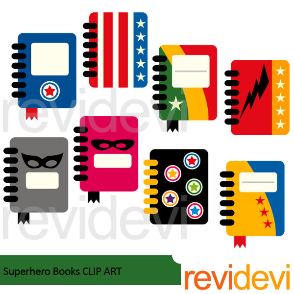 Superhero Books clipart  Revidevi    Mygrafico