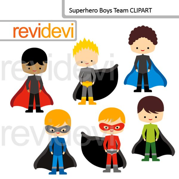 Superhero Boys Team Clipart  Revidevi    Mygrafico