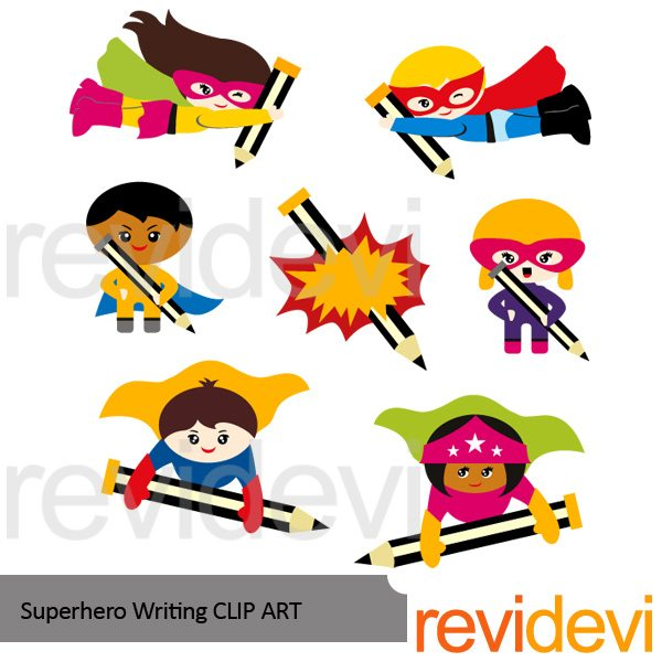 Superhero Writing Clipart  Revidevi    Mygrafico