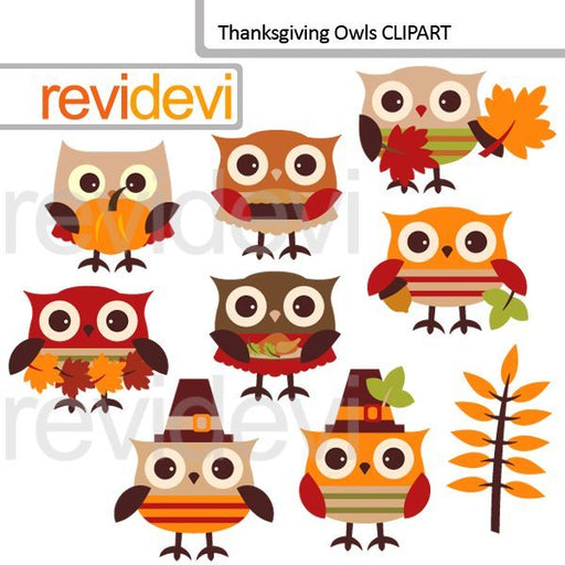 Thanksgiving Owls Clipart  Revidevi    Mygrafico