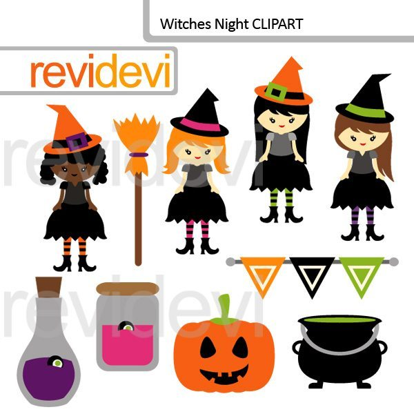 Witches Night Clip art  Revidevi    Mygrafico