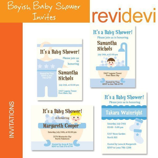 Boyish Baby Shower Invites  Revidevi    Mygrafico