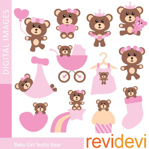 Baby Girl Teddy Bear  Revidevi    Mygrafico