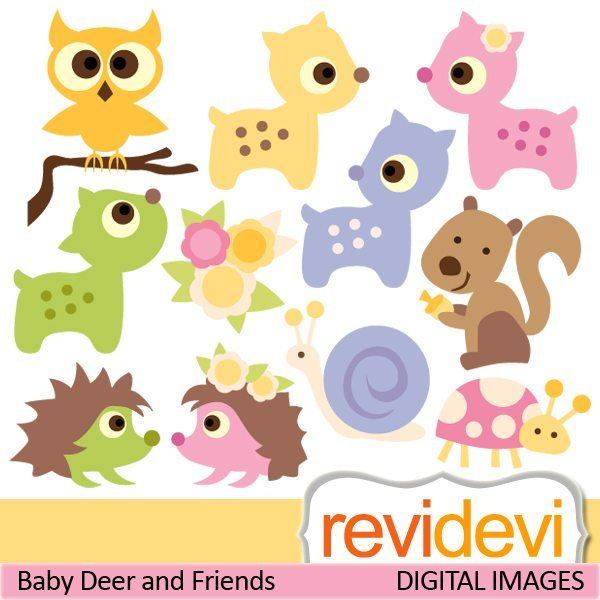 Baby Deer and Friends  Revidevi    Mygrafico