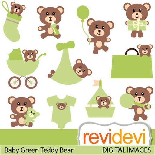 Baby Green Teddy Bear  Revidevi    Mygrafico