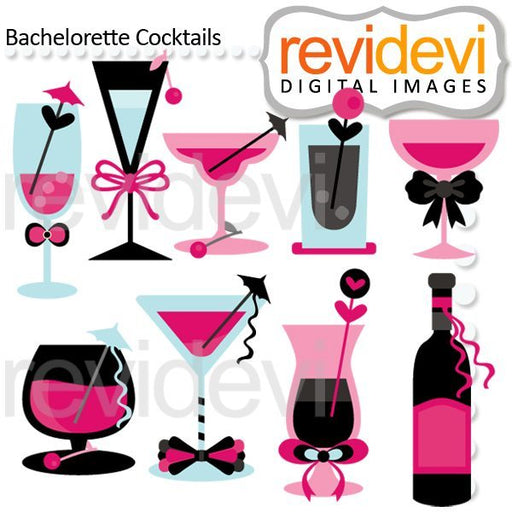 Bachelorette Cocktails Cliparts  Revidevi    Mygrafico