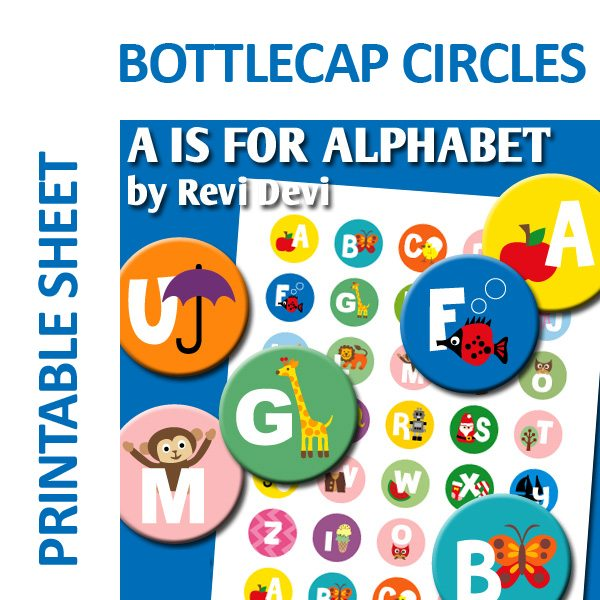 A is for Alphabet Bottlecap Circles  Revidevi    Mygrafico