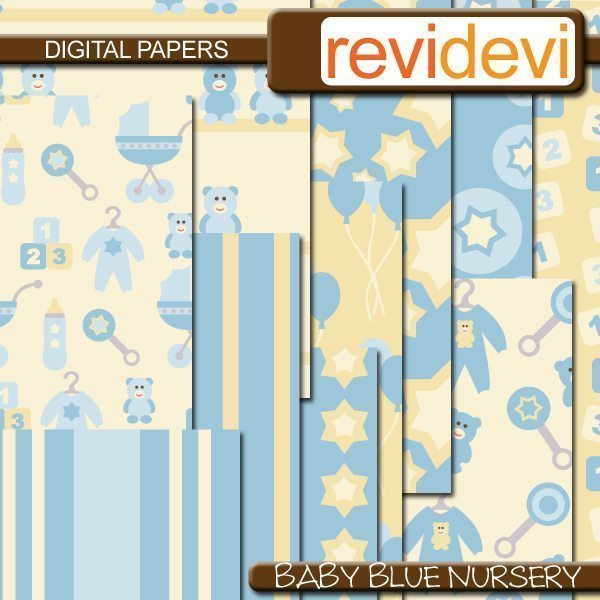 Baby Blue Nursery Bundle  Revidevi    Mygrafico