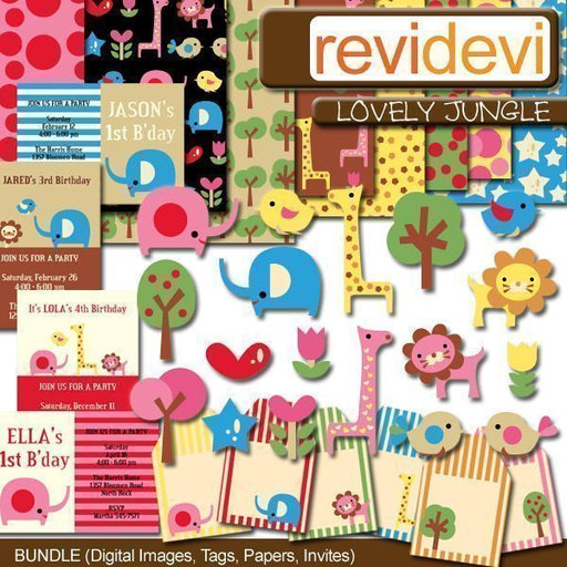 Lovely Jungle Bundle  Revidevi    Mygrafico
