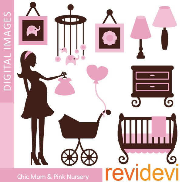 Chic Mom and Pink Nursery  Revidevi    Mygrafico