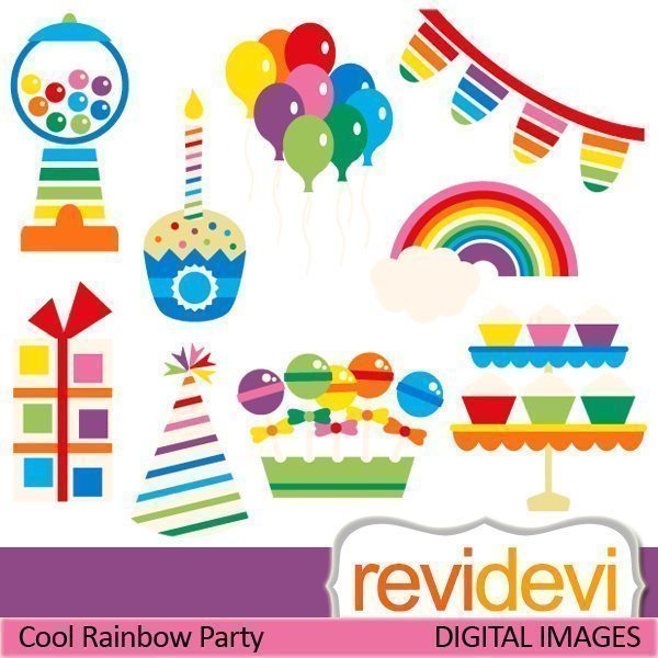 Cool Rainbow Party  Revidevi    Mygrafico