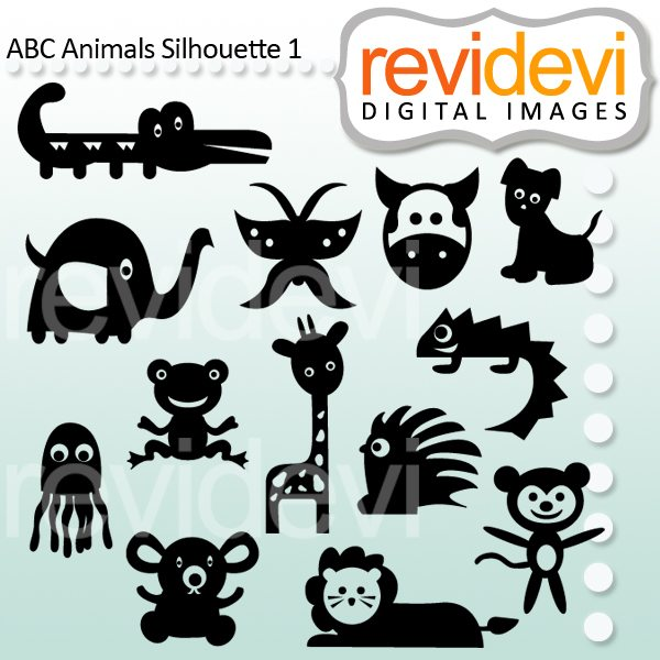 ABC Animals Silhouette Part 1  Revidevi    Mygrafico