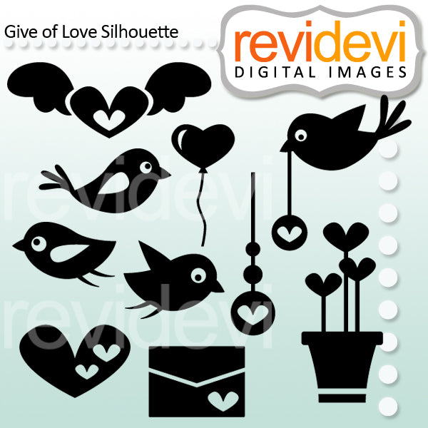 Bird Love Silhouette Clipart  Revidevi    Mygrafico