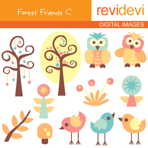 Forest Friends C Cliparts Revidevi    Mygrafico