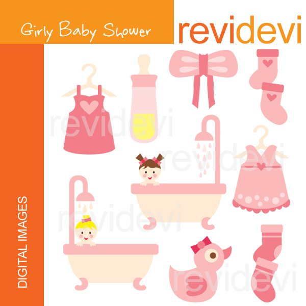 Girly Baby Shower  Revidevi    Mygrafico