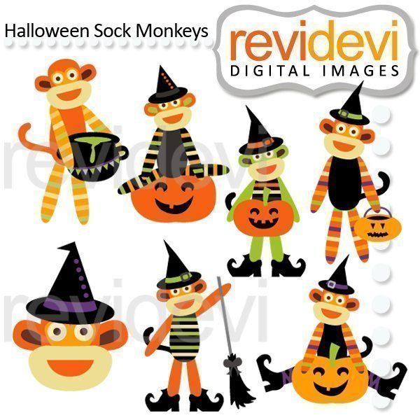 Halloween Sock Monkeys  Revidevi    Mygrafico